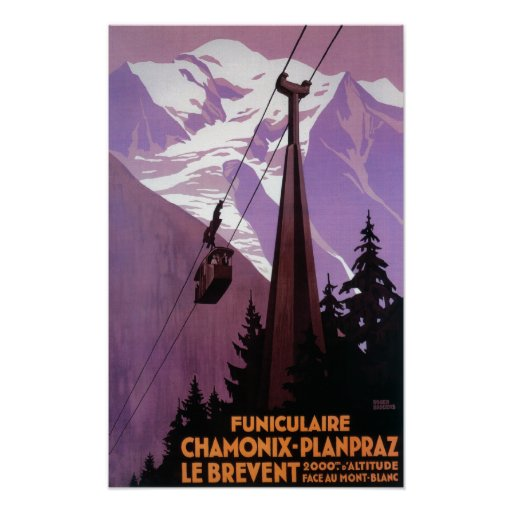 Funicular Railway to Brevent Mt. Poster
