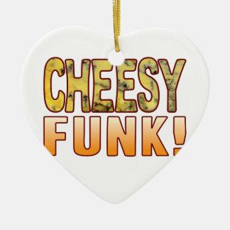 Funk Blue Cheesy Ceramic Heart Decoration