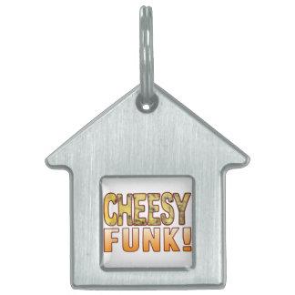 Funk Blue Cheesy Pet ID Tag