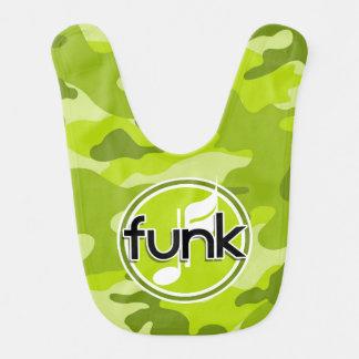 Funk bright green camo camouflage bib