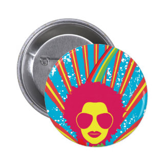 Funk ~ Funky Disco Queen 80s 1980s Retro 6 Cm Round Badge