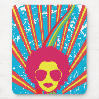 Funk ~ Funky Disco Queen 80s 1980s Retro Mouse Pad