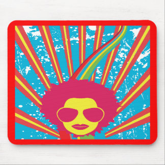 Funk Funky Disco Queen 80s 1980s Retro Mouse Pad