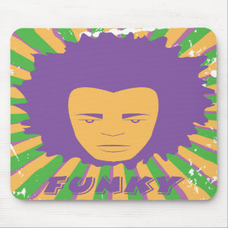 Funk ~ Funky Retro 80s 1980s Disco Man Mouse Pad