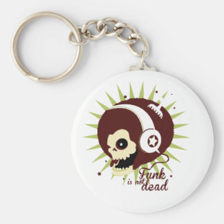 Funk not dead basic round button key ring