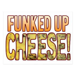 Funked Up Blue Cheese Postcard