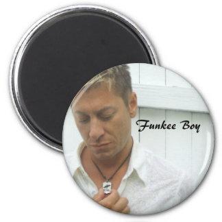 Funkee Boy 6 Cm Round Magnet