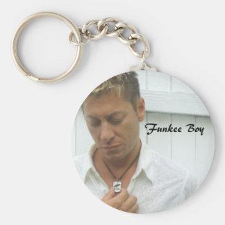 Funkee Boy Basic Round Button Key Ring