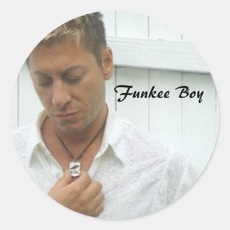 Funkee Boy Classic Round Sticker