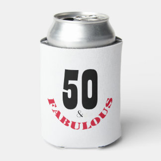 Funky 50th Birthday Gift Can Cooler