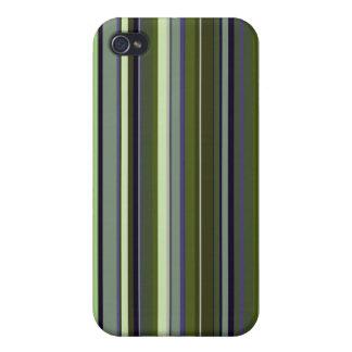 Funky 60s Retro Earth Tone Stripes iPhone 4/4S Case