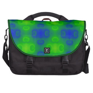 Funky 70s Blue Green Blur Abstract Bags For Laptop
