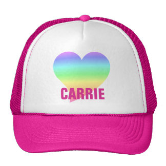 Funky 70s Bright Retro Heart Pastel Rainbow Love Trucker Hat