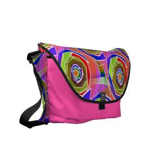 Funky Abstract Art Bag! #1 Messenger Bags