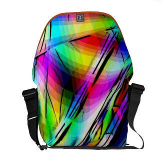 Funky Abstract Art Bag! #6 Messenger Bags