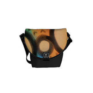 Funky Abstract Art Handbag Courier Bag
