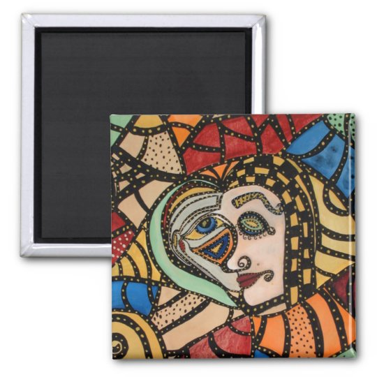 Funky Abstract Art Magnet