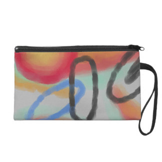 Funky Abstract Art On Wristlet