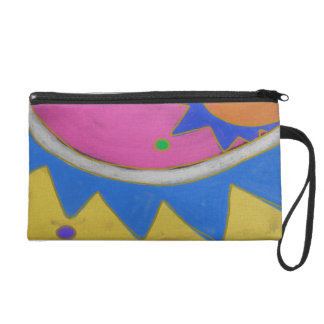 Funky Abstract Wristlet Clutches