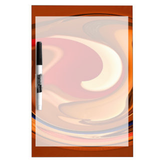 Funky Abstract Burnt Orange and Red Design Dry Erase Board