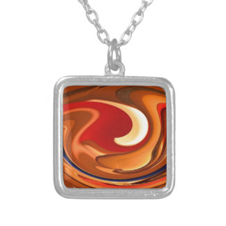 Funky Abstract Burnt Orange and Red Design Pendants