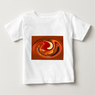 Funky Abstract Burnt Orange and Red Design Tees