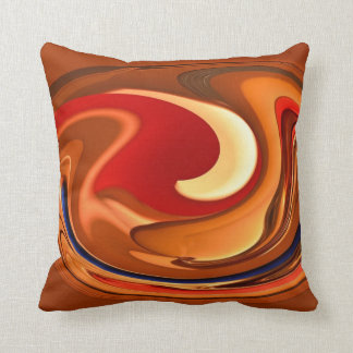 Funky Abstract Burnt Orange Red Throw Pillow Cushion