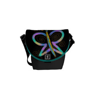 Funky Abstract Butterfly Courier Bags