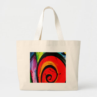 Funky Abstract Circles Art Canvas Bags