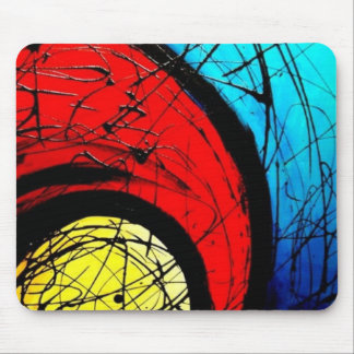 Funky Abstract Circles Art Mouse Mat