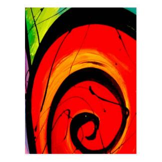 Funky Abstract Circles Art Postcard