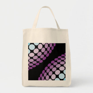 Funky Abstract Circles Tote Bags