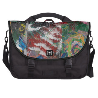 Funky Abstract Collage Computer Bag