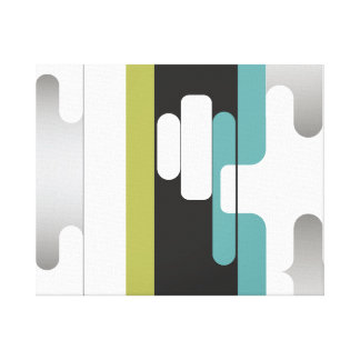 funky abstract decorative art stretched canvas prints