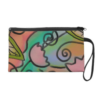 Funky Abstract Digital Painting on Wristlets