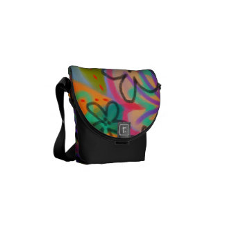 Funky Abstract Floral Handbag Messenger Bags