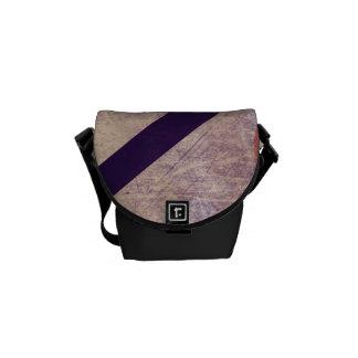 Funky Abstract Geometric Shapes Grunge Design Messenger Bag