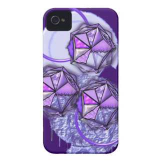 Funky abstract in purples iPhone 4 cover