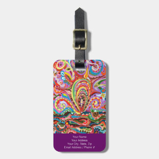 Funky Abstract Luggage Tag - Customize it!