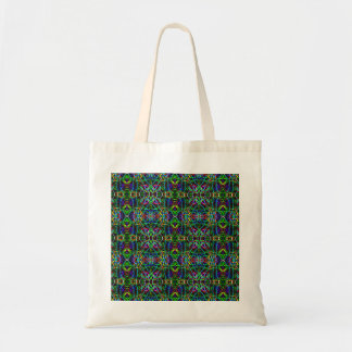 Funky Abstract Neon Psychedelic Canvas Bag