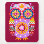 Funky Abstract Owl Mousepad