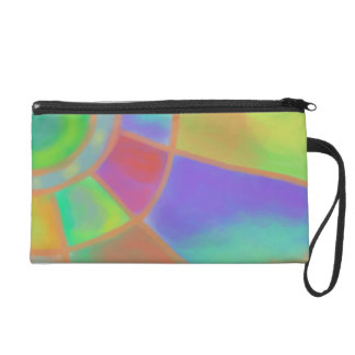 Funky Abstract Painting Wristlet Purses