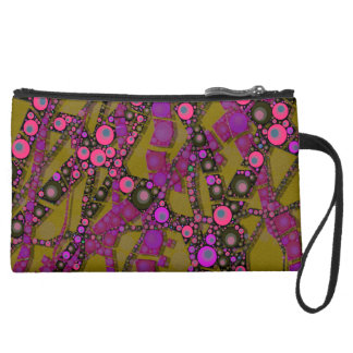 Funky Abstract Pattern Wristlet