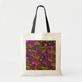 Funky Abstract Pattern Canvas Bag