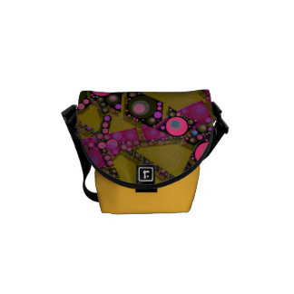Funky Abstract Pattern Messenger Bag