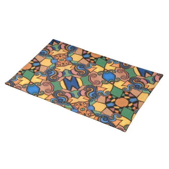 Funky Abstract Pattern Placemat
