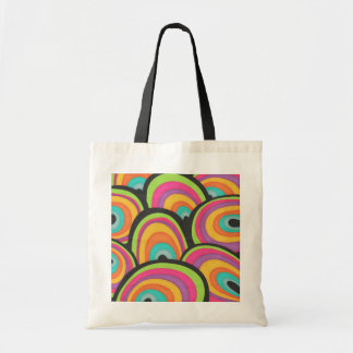 Funky Abstract Rainbows Budget Tote Bag