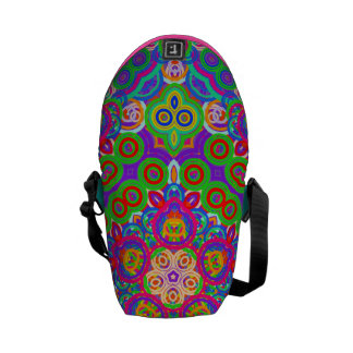 Funky Abstract Star Courier Bag