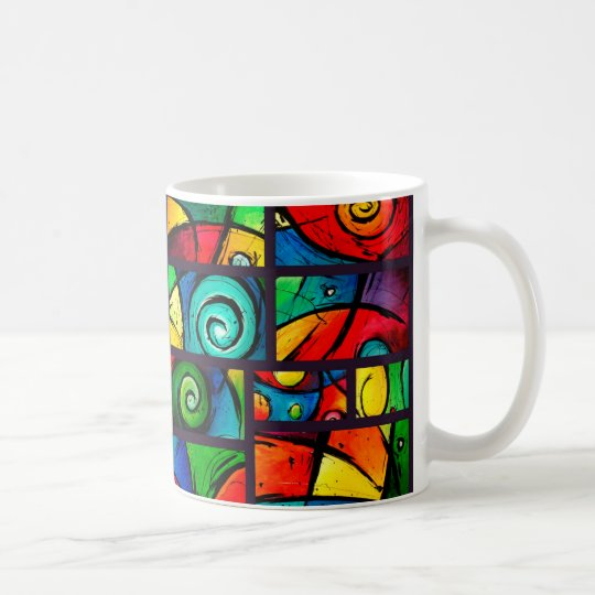 Funky Abstract Swirly Art Coffee Mug