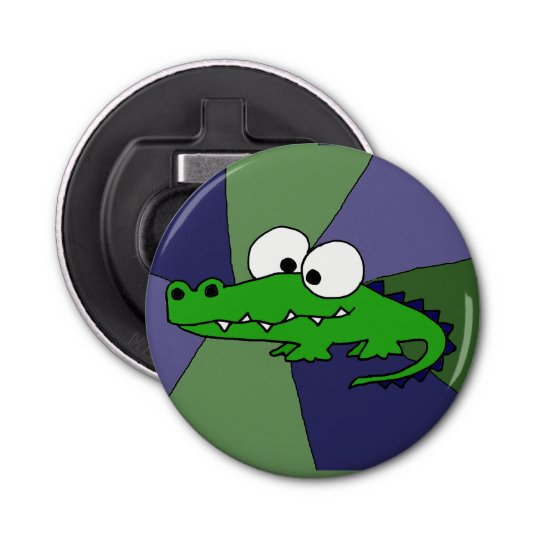 Funky Alligator Button Bottle Opener